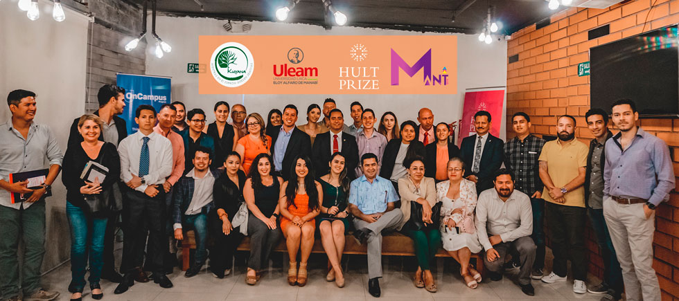 Competencia internacional HULT PRIZE retorna a Manta gracias a ULEAM y emprendimiento KUYANA